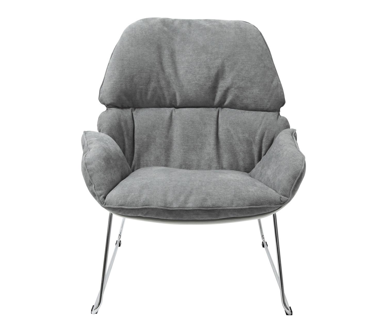 Fotel NINO jasno szary, płozy - polipropylen, podstawa chromowana - zdjęcie nr 4