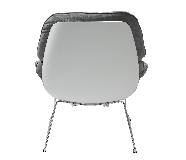 Fotel NINO jasno szary, płozy - polipropylen, podstawa chromowana - zdjęcie nr 2
