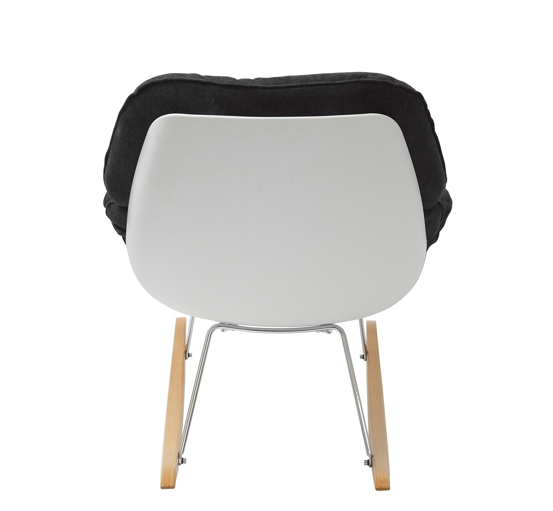 Fotel bujany NINO ciemno szary - tkanina ciemno szara, płozy bukowe - zdjęcie nr 5