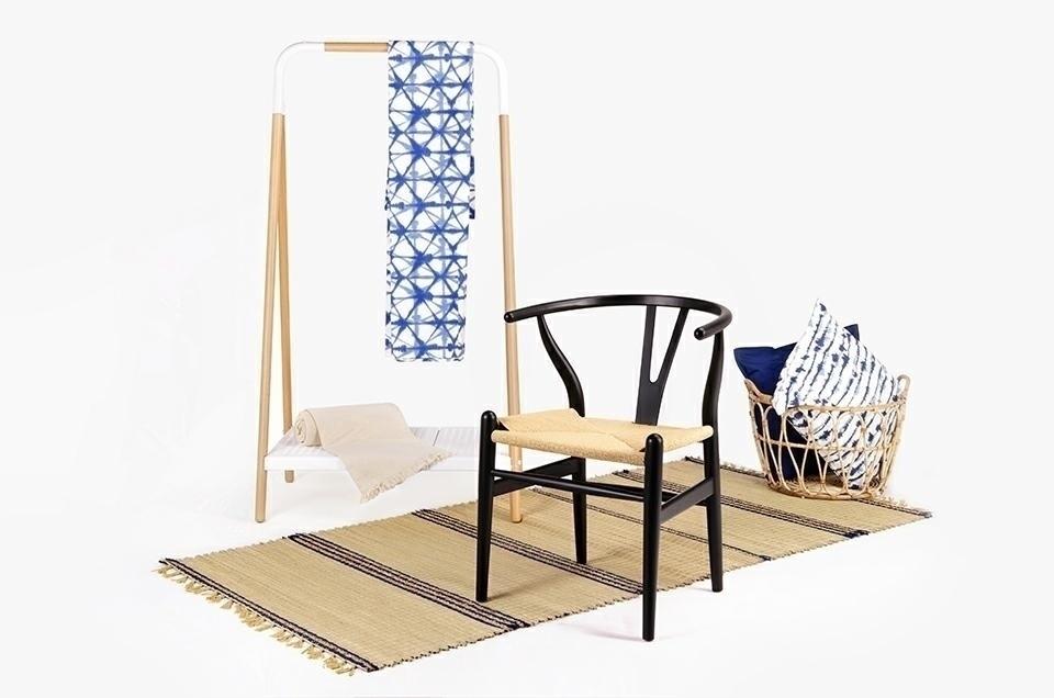 Krzesło WISHBONE czarne - drewno bukowe, naturalne włókno - zdjęcie nr 7