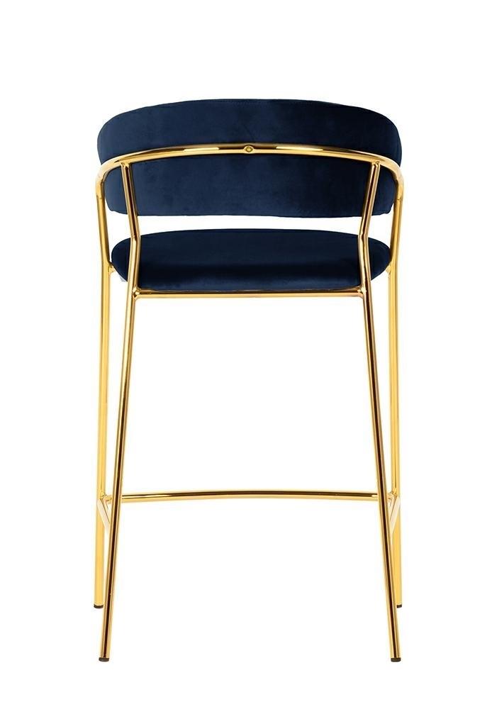Hoker MARGO ciemny niebieski - welur, podstawa złota - zdjęcie nr 5