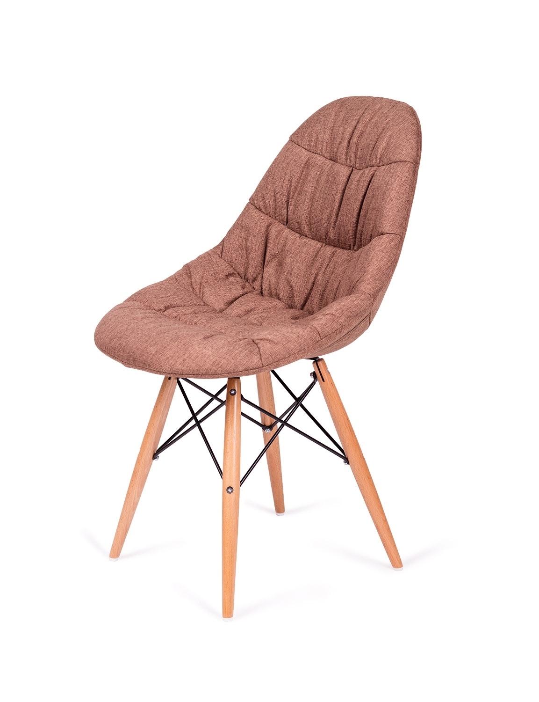 Krzesło RUGO brązowe tkanina