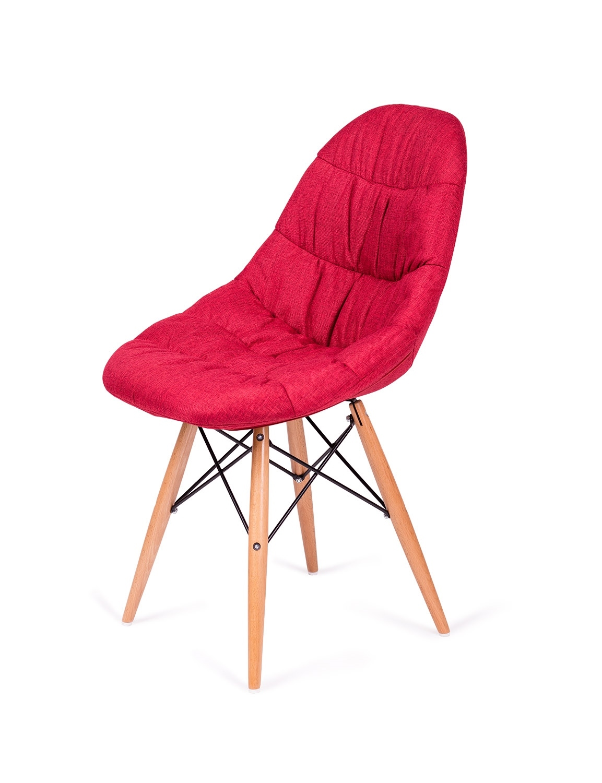 Krzesło RUGO czerwone tkanina