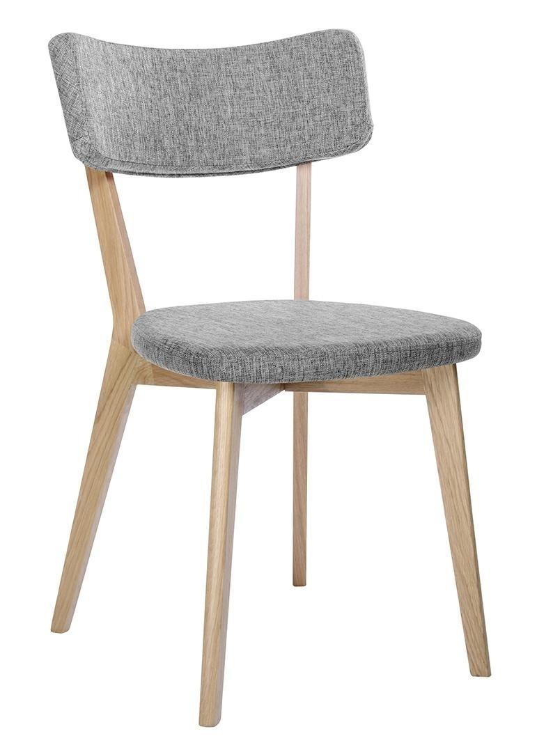 Krzesło SCANDI szare - podstawa dębowa