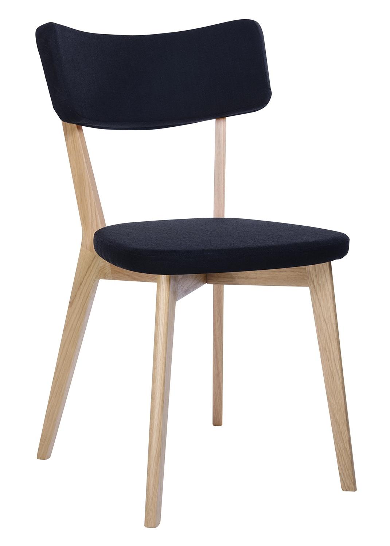 Krzesło SCANDI czarne - podstawa dębowa