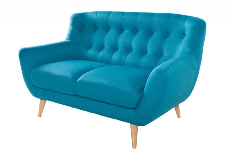 Sofa 2 osobowa tapicerowana THICK - niebieska