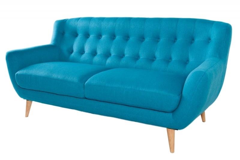 Sofa 3 osobowa tapicerowana THICK - niebieska