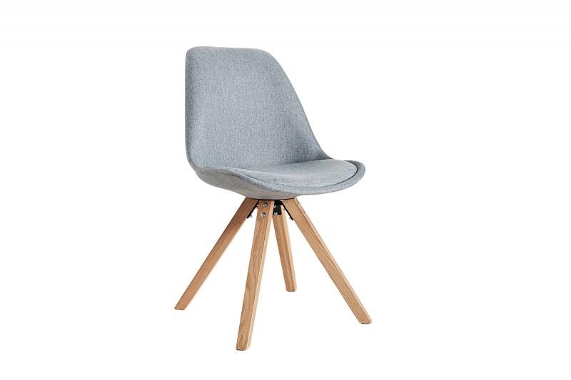 Krzesło tapicerowane HUGO WOOD szare