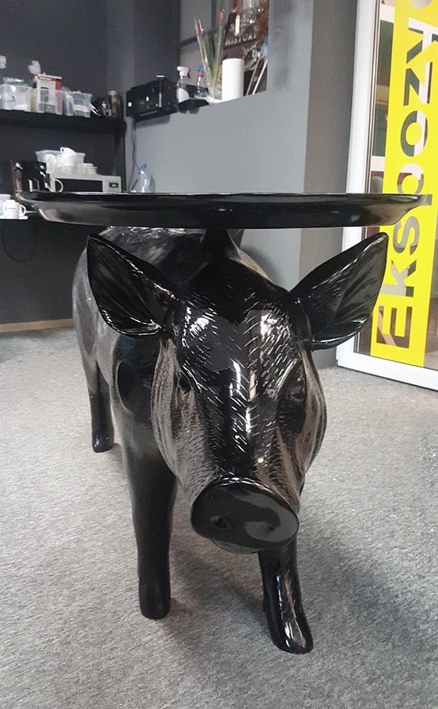 Stolik PORC czarny - włókno szklane - zdjęcie nr 1